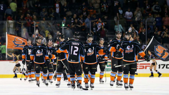 San Diego Gulls on the ice Friday night. Courtesy of the team