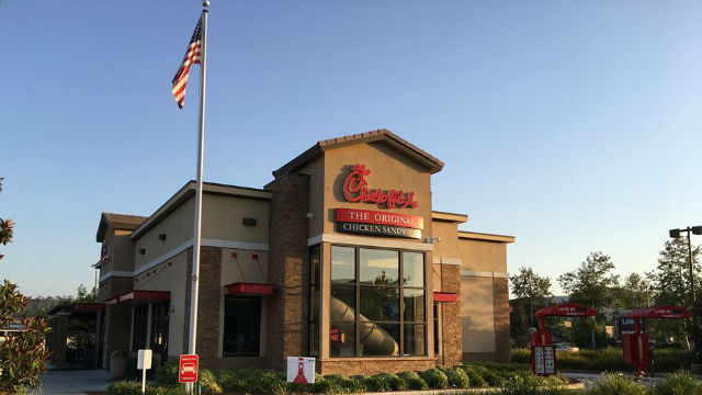A Chick-fil-A restaurant in Santee.