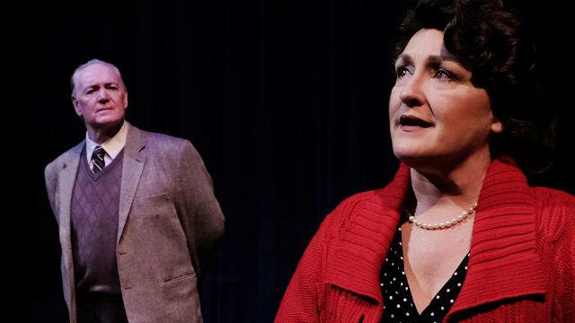"Deborah and Robert Smyth in ""Shadowlands"" at Lamb's Players Theatre."
