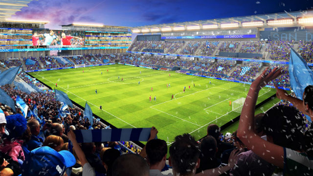 A rendering of the Soccer City stadium. Courtesy FS Investors.