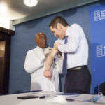 CDC director gets a flu shot