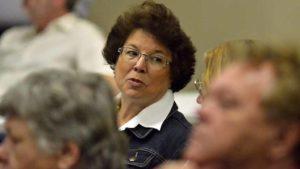 Former Assemblywoman Lori Saldaña was part of a 90-member audience. Photo by Ken Stone