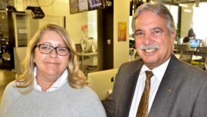 KPBS leaders Nancy Worlie and Tom Karlo have waged previous successful fights to avert funding cuts. Photo by Ken Stone