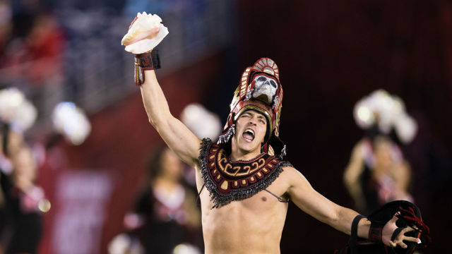 Aztec warrior mascot