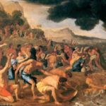 A painting depicting the Hebrews crossing the Red Sea