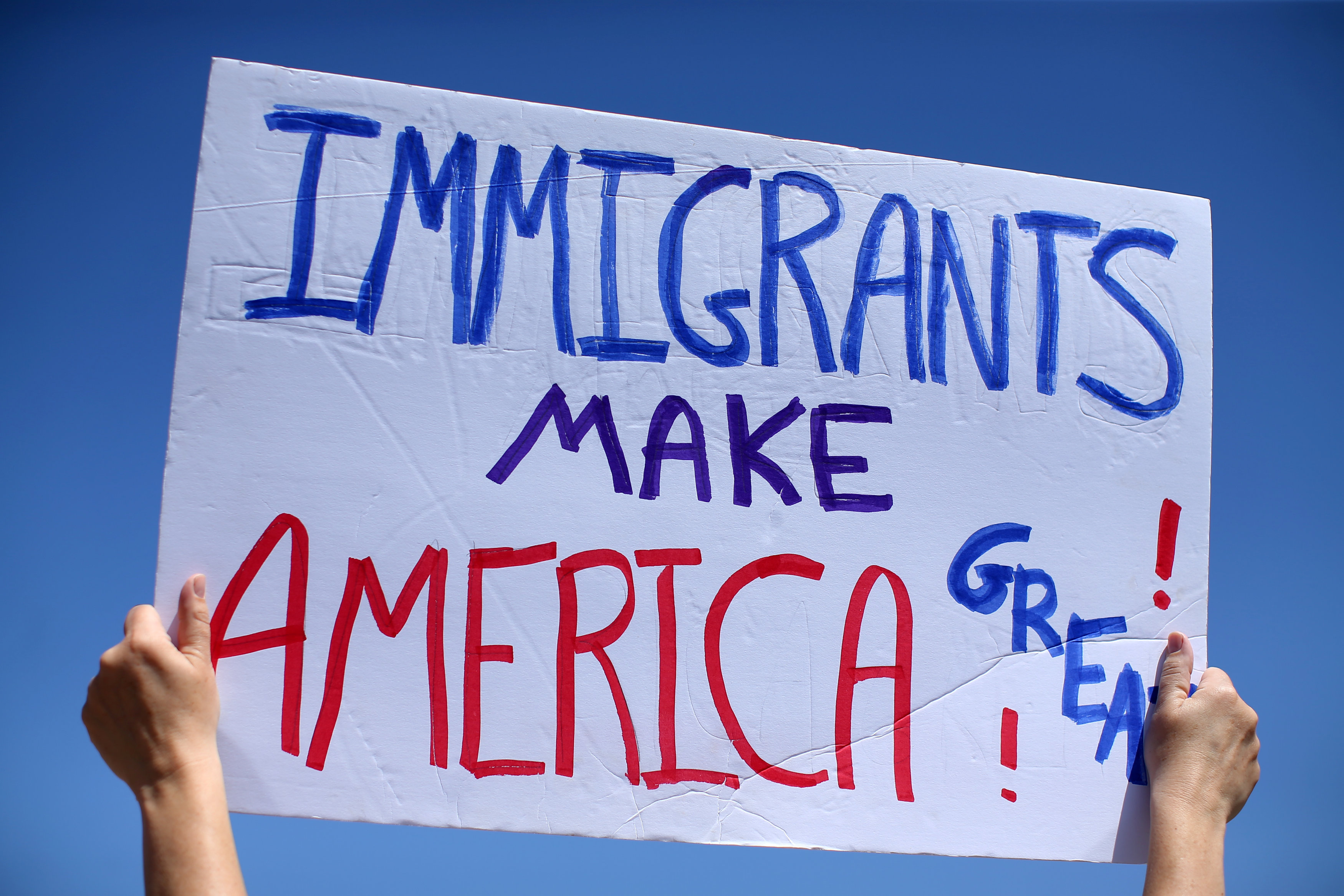 A Sign During An Immigration Rally Reuters Mike Blake