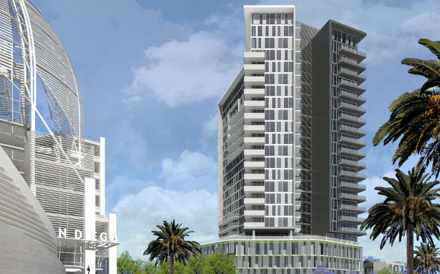 A rendering of the $100 million K1 tower.