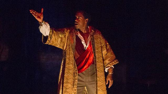 """Albert Jones as Ira Aldridge playing Othello in """"Red Velvet"""" at The Old Globe."""