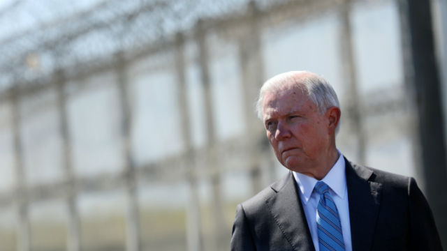 Jeff Sessions at border wall