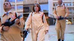 "San Diego City Council members Chris Cate, Lorie Zapf and Scott Sherman in ""Ghostbusters"" spoof. Image via YouTube.com"