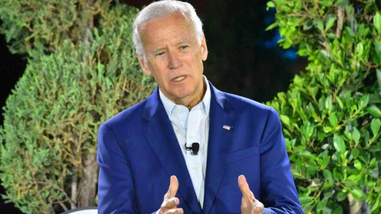 Joe Biden in San Diego in 2017