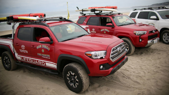 San Diego Toyota Dealers >> 35 Brand New Toyota Vehicles Unveiled For San Diego Lifeguards
