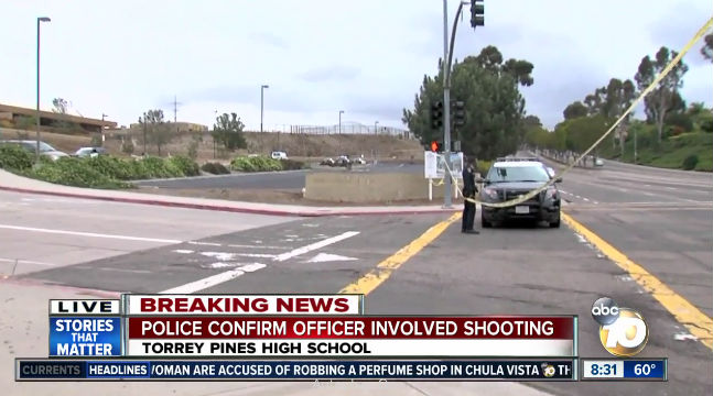 Police shooting at Torrey Pines High school