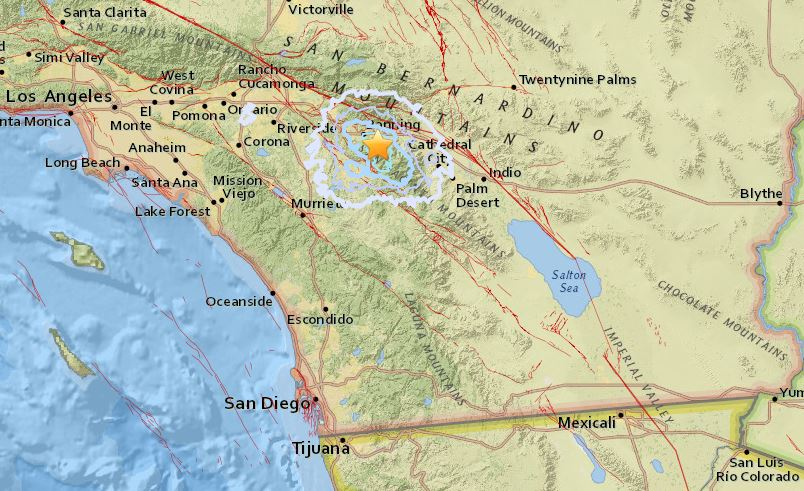 U S Geological Survey Map Shows The Location Of The Largest Earthquake