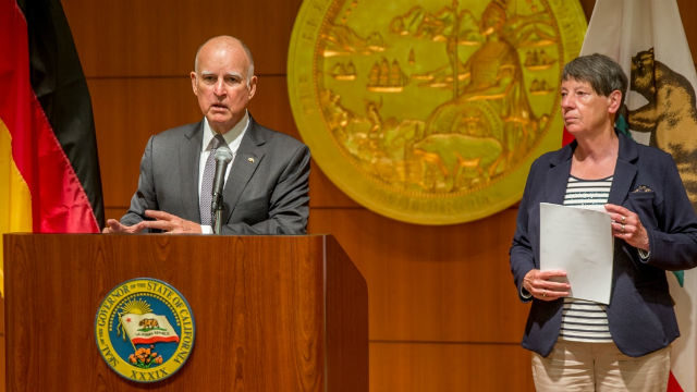Gov. Brown discusses climate change with German minister