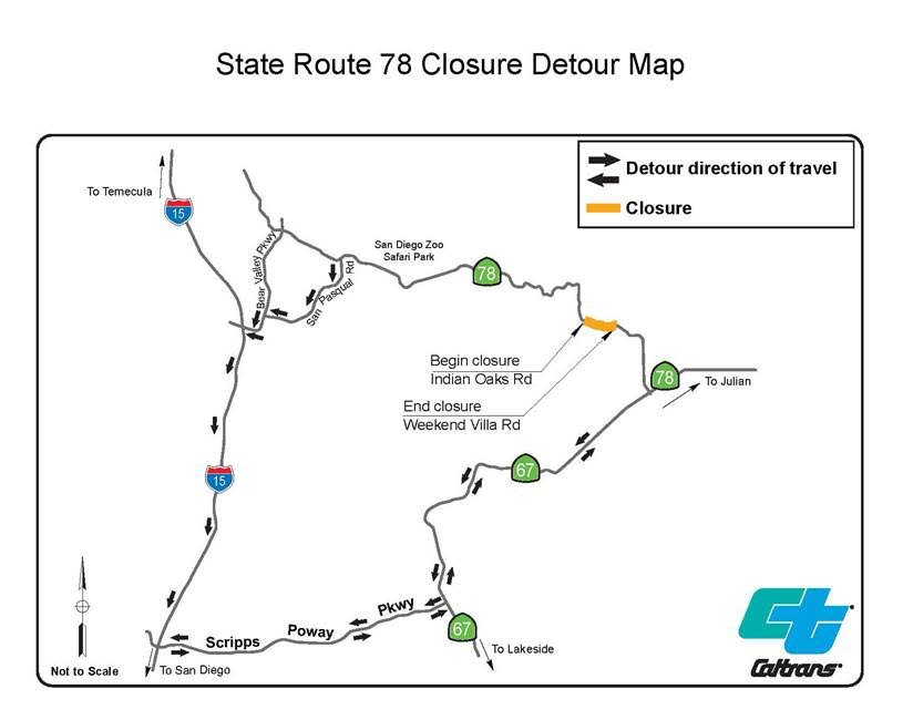 Image Result For Caltrans Road Closure Map