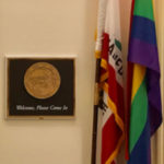 Rep. Susan Davis' rainbow flag