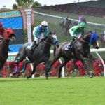 A race on opening day at Del Mar