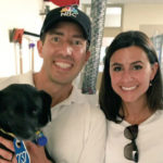 NBC 7's Greg Bledsoe and Megan Tevrizian with a shelter dog