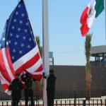 American and Mexican flags at San Ysidro
