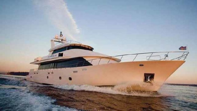 The 125-foot super yacht Liquidity rented by BudTrader.com for San Diego Comic-Con.