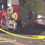 The crash scene on Dehesa Road near Sycuan Casino, July 28, 2017.