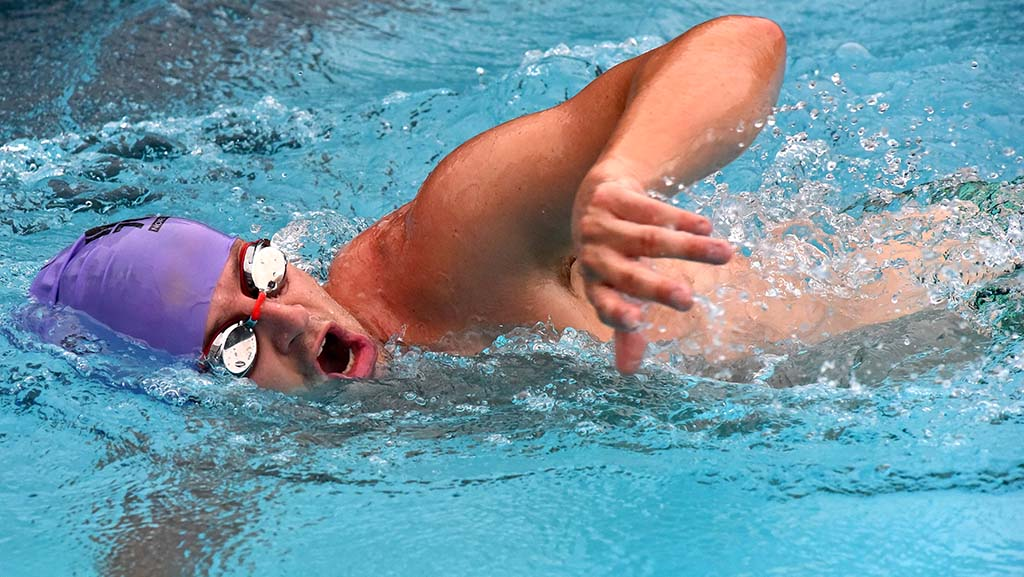 Many took the laps seriously, including local high schools and masters swim clubs.