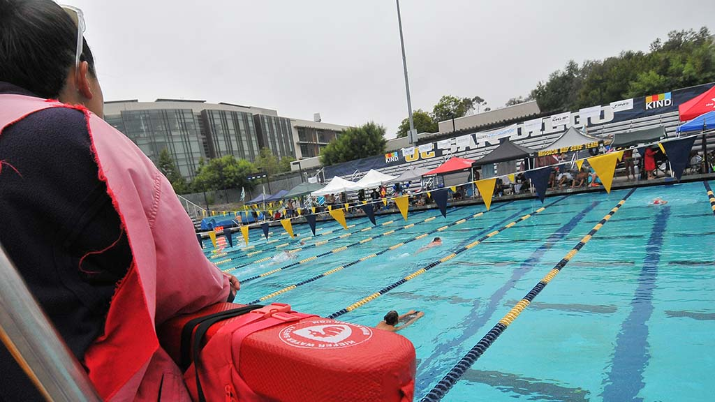 UC San Diego supplied lifeguards for the Swim 24 Challenge, but no rescues were needed.