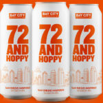 72 and Hoppy beer cans