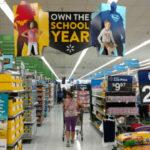 Back-to-school shopper in Walmart