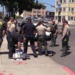 Deputies surround suspected car thief