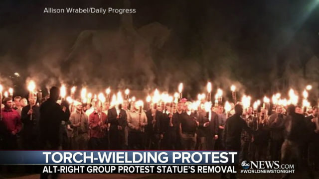White supremacist torch rally