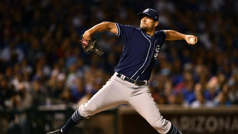 Padres pitcher Brad Hand