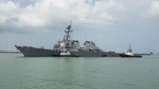 Damaged USS John S. McCain