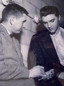 Don Freeman interviews Elvis Presley in April 1956 before a show at the old San Diego Arena.