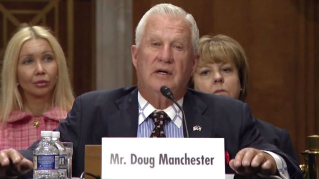 Doug Manchers appears before Congress