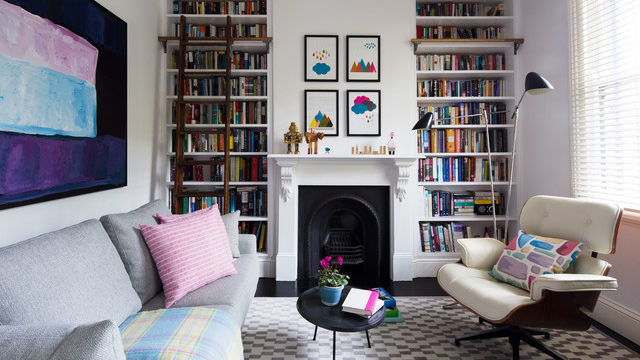 Room decorated in the eclectic style