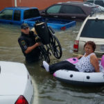 Houston police rescue flood victim