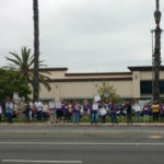 SEIU members picketing