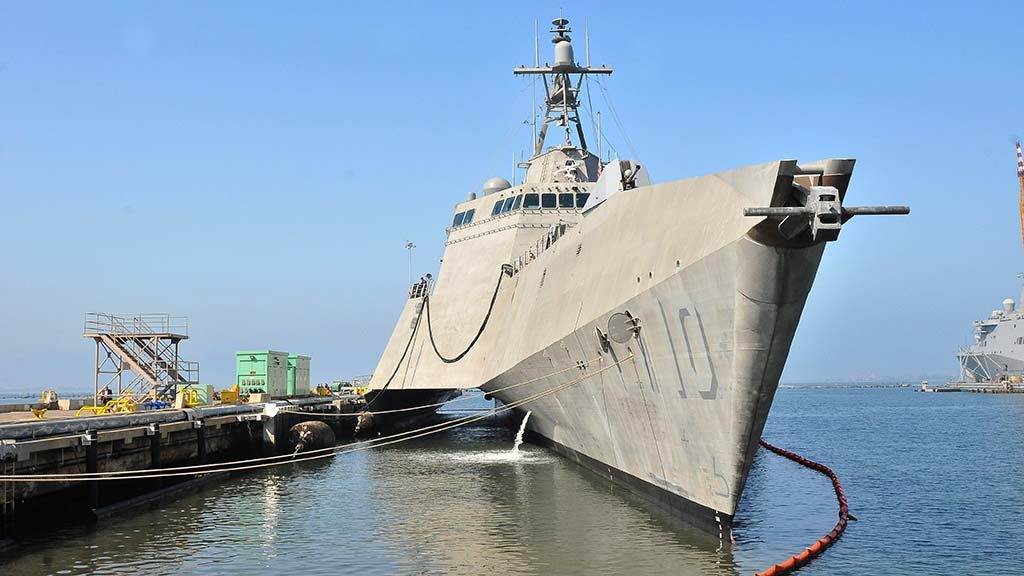 The USS Gabrielle Giffords is based at Naval Base San Diego.