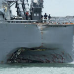 Damage to USS John McClain