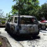 Burned SUV
