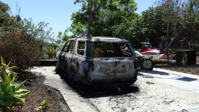 Burned SUV