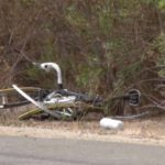 Victim's bike lay mangled on side of road.