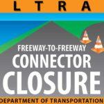 Caltrans closure warning.