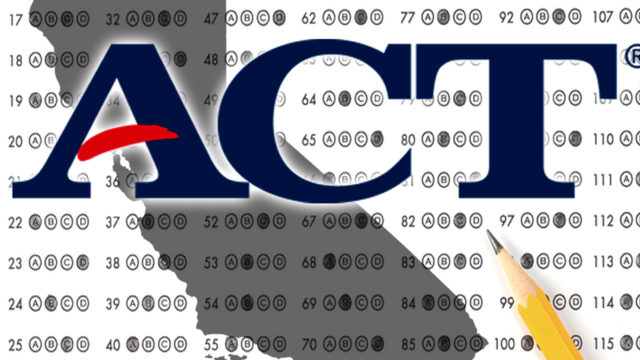 California ACT test pass rates 2011-2016