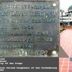 Jefferson Davis plaque at Horton Plaza.