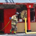 Heartland and the San Diego Fire-Rescue Department put out a blaze in the kitchen area of Wong's Golden Palace on Fire in La Mesa. No one was injured.
