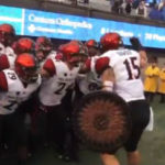 Aztecs prepare to enter the field