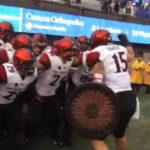 Aztecs prepare to enter the field